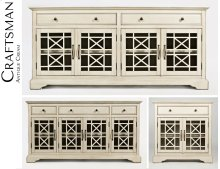 Craftsman Antique Cream Accent Chest