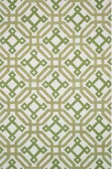 Ivory / Green Rug