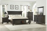 Queen Platform Bed with Footboard Storage Product Image