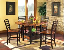 """Abaco Drop Leaf Counter Table T op, 59"""" Round (42"""" Square)"""