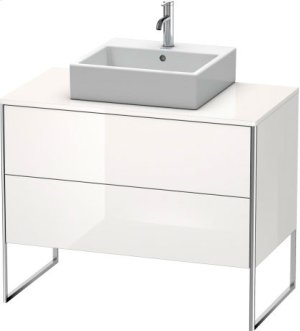 Vanity Unit For Console Floorstanding, White High Gloss (decor)