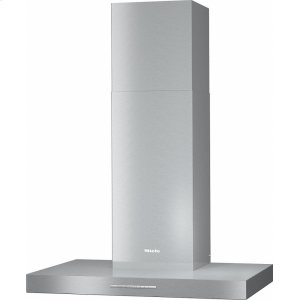 MielePUR 88 W 30-inch wall-mounted ventilation hood with energy-efficient LED lighting and backlit controls for easy use.