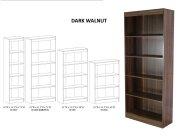 5 Shelf Narrow Bookcase Product Image