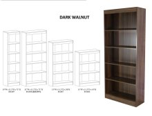 5 Shelf Narrow Bookcase