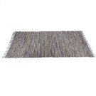 Blue & Beige Leather Chindi 5'x8' Rug (Each One Will Vary). Product Image