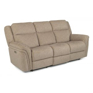 FLEXSTEELSilas Power Reclining Sofa with Power Headrests