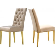 """Capri Velvet Dining Chair - 19"""" W x 20.5"""" D x 42"""" H"""