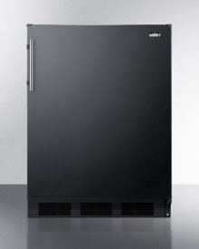 Freestanding Residential Counter Height All-refrigerator In Black With Automatic Defrost and Deluxe Interior