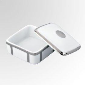 Porcelain Square Pill Box 55 X 55 Mm