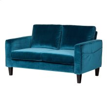 Sofa, 2-Seat - Velvet Blue