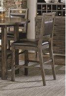 Upholstered Counter Chair (2 per carton) - Dark Birch Smoke Finish Product Image