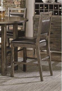 Upholstered Counter Chair (2 per carton) - Dark Birch Smoke Finish