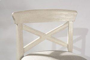 Bayview Wood X-back Non-swivel Counter Stool - White Wirebrush