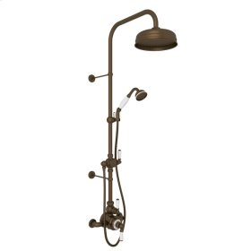 English Bronze Perrin & Rowe Edwardian Thermostatic Shower Package with Metal Lever