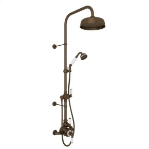 English Bronze Edwardian U.KIT1NL Thermostatic Shower Package with Metal Lever
