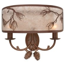 """20""""W Balsam Pine Wall Sconce"""