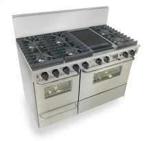 "48"" Dual Fuel, Convect, Self Clean, Sealed Burners, Stainless Steel"