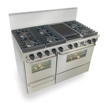 """48"""" Dual Fuel, Convect, Self Clean, Sealed Burners, Stainless Steel"""