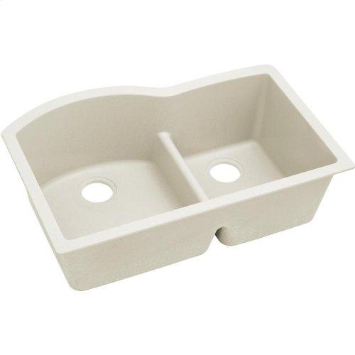 "Elkay Quartz Luxe 33"" x 22"" x 10"", Offset 60/40 Double Bowl Undermount Sink with Aqua Divide"