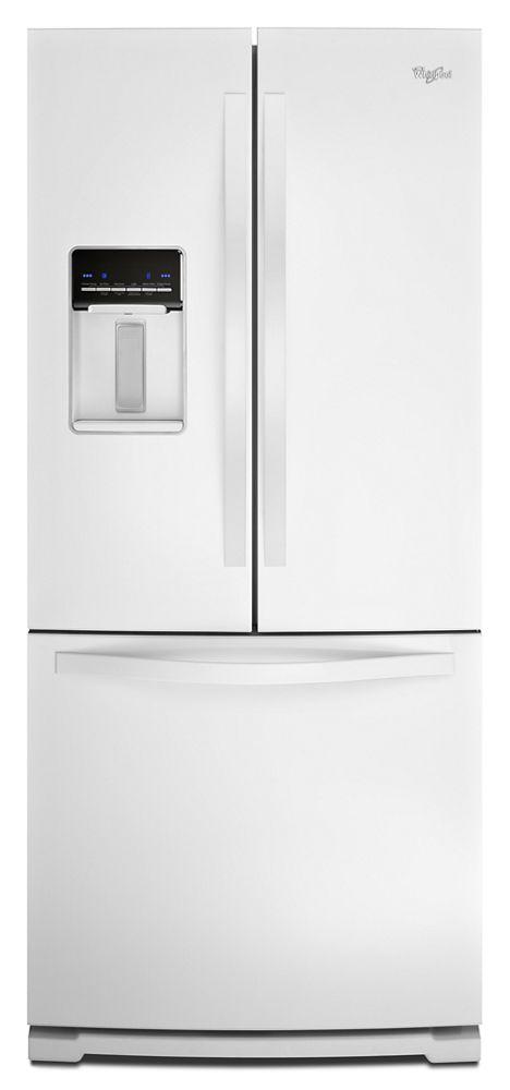 30 Inch Wide French Door Refrigerator With Exterior Water Dispenser   19.7  Cu. Ft Hidden