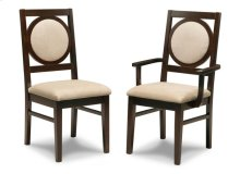Orlando Padded Back Arm Chair in Fabric