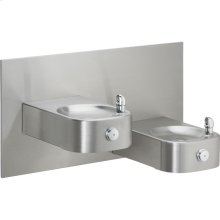 Elkay Soft Sides Heavy Duty Bi-Level Fountain Non-Filtered, Non-Refrigerated Stainless