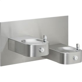 Elkay Soft Sides Heavy Duty Bi-Level Reverse Fountain, Non-Filtered Non-Refrigerated Stainless