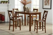 Simplicity Counter Height Dining Table - Caramel