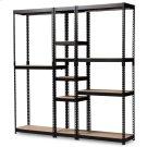 Baxton Studio Gavin Modern and Contemporary Black Metal 10-Shelf Closet Storage Racking Organizer Product Image