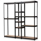Baxton Studio Gavin Modern and Contemporary Black Metal 10-Shelf Closet Storage Racking Organizer Product Image