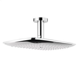 Chrome PuraVida 400 AIR 1-Jet Showerhead with Ceiling Mount, 2.5 GPM