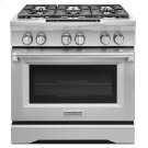 36-Inch 6-Burner Dual Fuel Freestanding Range, Commercial-Style - Stainless Steel Product Image