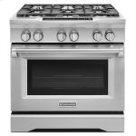 Kitchenaid36'' 6-Burner Dual Fuel Freestanding Range, Commercial-Style - Stainless Steel