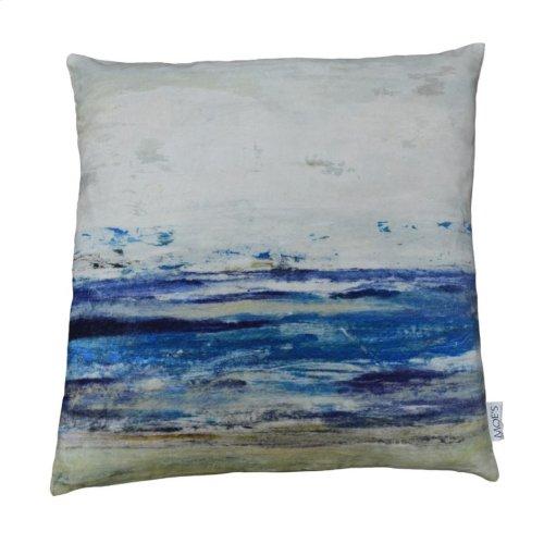 Ocean Velvet Feather Cushion 25x25