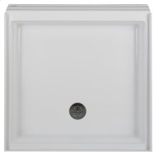 Town Square 36 Inch by 36 Inch Alcove Shower Base - White