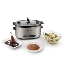 KitchenAid® Architect Series 6-Quart Slow Cooker with Easy Serve Lid - Cocoa Silver