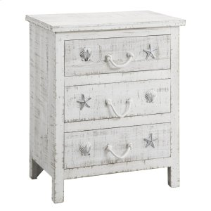 CRESTVIEW COLLECTIONSSeaside Sand 3 Drawer Chest