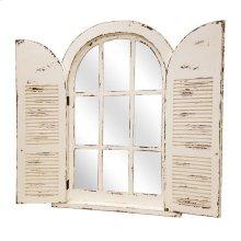 Wall Mount Shutter Arch Mirror
