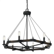 6 Ltg Black Smith Metal Chandelier(Edison Bulbs Not Included)