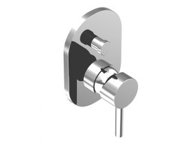 Pressure Balance Mixer with Diverter - Chrome