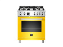 30 inch 4-Burner, Electric Self-Clean Oven Yellow