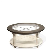 Juniper Round Coffee Table Chalk/Charcoal finish