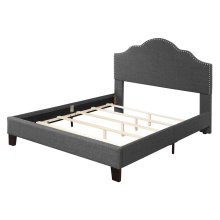 Upholstered 6/6 King Headboard-footboard & Rails-charcoal#jsy2611-38