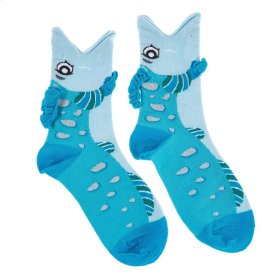 Fish Big Mouth Socks - Women's Size 9-11
