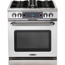 "30"" 4 Burner Gas Convection Range, Dual Fuel, Self Clean"