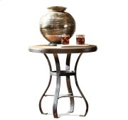 Sherborne Round Side Table Toasted Pecan finish Product Image