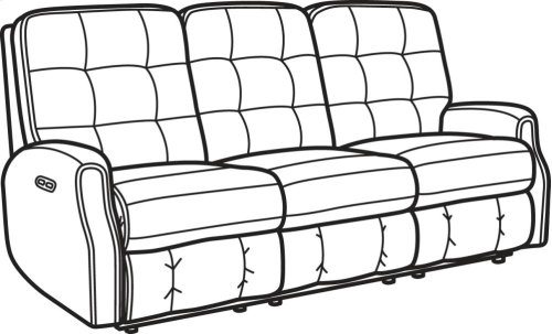 Devon Fabric Power Reclining Sofa with Power Headrests and without Nailhead Trim