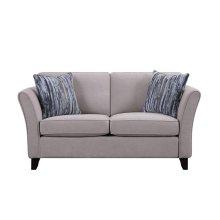 Love Seat, Mushroom Fabric