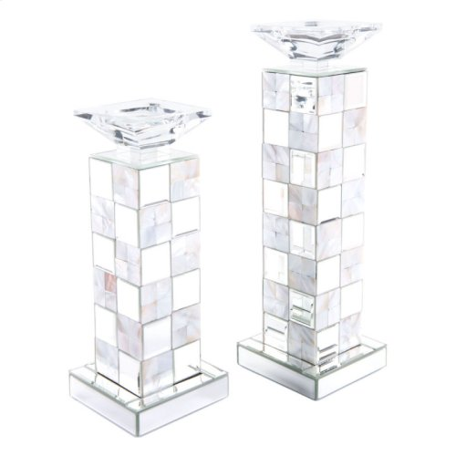 Squares Candle Holder Sm Mirror And Mop
