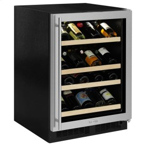 Marvel24-In Built-In High Efficiency Gallery Single Zone Wine Refrigerator with Door Swing - Right